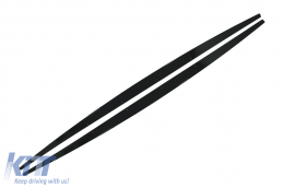 Side Skirts Add-on Lip Extensions suitable for BMW 1 Series Hatchback F20 F21 LCI (2015-2019) M-Performance Design Piano Black - SSLBMF20LMPB