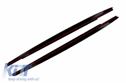 Side Skirts Extension suitable for BMW 5 Series G30 G31 Limousine/Touring (2017-up) M Performance Design Piano Black - SSLBMG30MPB
