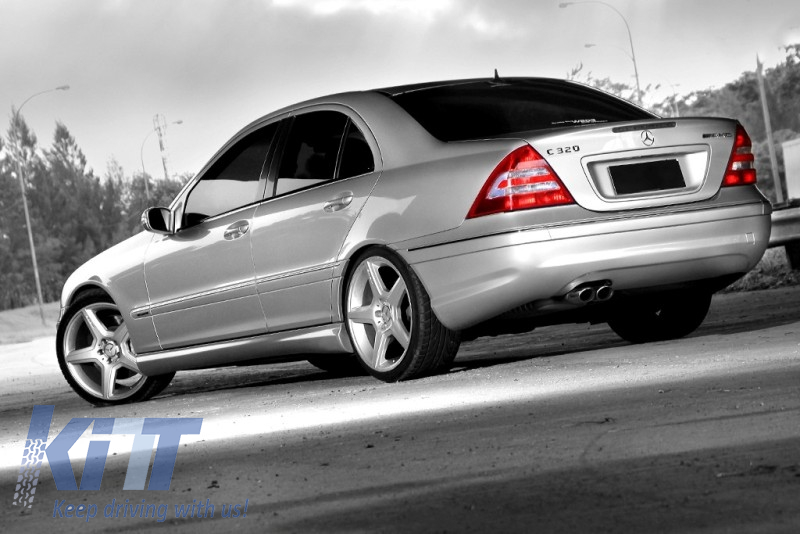 Side skirts mercedes benz w203 c class 2001 2007 amg design for Mercedes benz c class w203