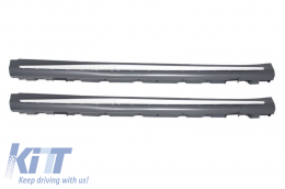 Side Skirts suitable for MERCEDES Benz S-Class W222 Long Version (2013-up) S65 AMG Design