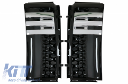 Side Vents Grilles Suitable for Range Rover Vogue III L322 (2002-2012) Autobiography Piano Black Edition - RRSV02PB