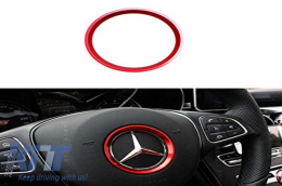 Steering Wheel Ring 51mm Red suitable for Mercedes A Class W176 B Class W246 C Class W205 CLA C117 GLA X156 - SWRMBR
