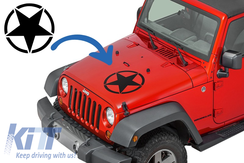 Sticker Star Universal For Jeep Wrangler Jk Truck Or