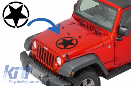 Sticker Star Universal for Jeep Wrangler JK, Truck or Other Cars Black - STICKERSTARB