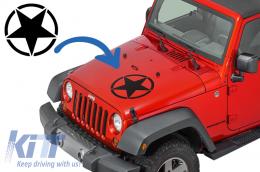 Sticker Star Universal suitable for Jeep Wrangler JK, Truck or Other Cars Black - STICKERSTARB