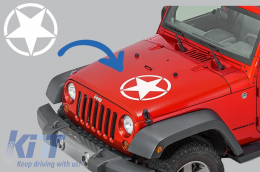 Sticker Star Universal suitable for Jeep Wrangler JK, Truck, or Other Cars White - STICKERSTARW