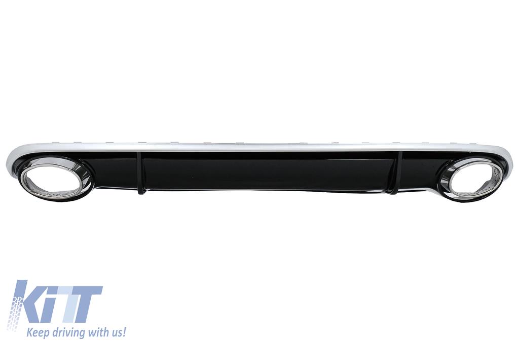 Suitable For Audi A4 B8 Limousine Avant Pre Facelift 2007 2011 Rear Bumper Valance Diffuser Exhaust Tips Rs4 Design
