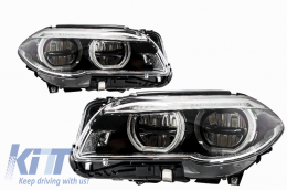 Suitable for BMW 5 Series F10 F11 LCI (2014-2017) Full LED Angel Eyes Headlights