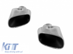 Suitable for BMW X5 E70 Exhaust Muffler Tips (2007-up) LCI Facelift Look