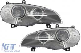 Suitable for BMW X5 E70 LCI Bi-Xenon Angel Eyes Headlights (2010-2013) - HLBME70F