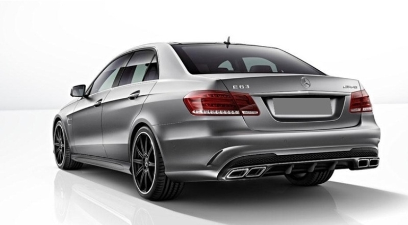 Suitable for MERCEDES W212 E-Class Facelift (2013-2016) E63 Sport Pack Rear  Diffuser Package Black
