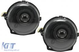 Suitable for MERCEDES W463 G-Class 1989-2012 Black Bi-Xenon Look Headlights - HLMBW463B