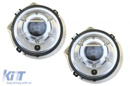 Suitable for MERCEDES W463 G-Class 1989-2012 Chrome Bi-Xenon Look Headlights - HLMBW463C