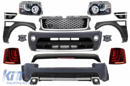 Suitable for Range ROVER Sport (2005-2013) L320 Complete Conversion Retrofit Autobiography Design Body Kit Black Edition - COCBRRSBFG