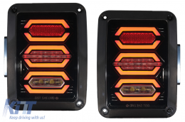 Taillights Full LED suitable for JEEP Wrangler JK (2007-2017) Smoke