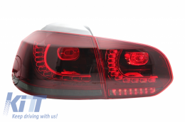 Taillights Full LED Volkswagen Golf VI (2008-up) R20 Design Red/Smoke