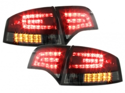 Taillights LED suitable for AUDI A4 B7 Limousine (2004-2008) LED BLINKER Red/ Smoke - RA12SLRSL/1017595