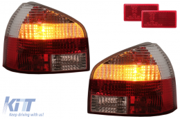 taillights suitable for AUDI A3 8L 09.96-04_red/chrome - RA01DRC
