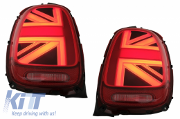 Taillights suitable for MINI ONE F55 F56 F57 3D 5D Convertible (2014-2018) JCW Design Red