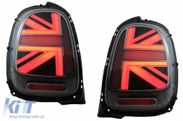 Taillights suitable for MINI ONE F55 F56 F57 3D 5D Convertible (2014-2018) JCW Design Red Smoke