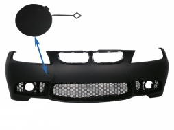 Tow Hook Cover Front bumper BMW 3 series  E90 Sedan E91 Touring (04-08) (Non LCI) M3 Design - THCFBBME90