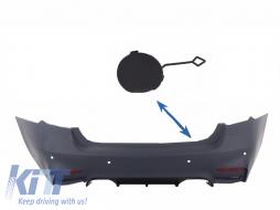 Tow Hook Cover Rear Bumper BMW 3'er F30 (2011-up)  M3 M-tech Design - THCRBBMF30M3