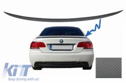 Trunk Boot Lid Spoiler BMW 3 Series E92 E93 (2006-2012) Coupe Cabrio M3 Design Carbon Film - TSBME92M3CF