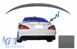 Trunk Boot Lid Spoiler Mercedes CLA C117 W117 (2013-2018) AMG Design Carbon Film - TSMBW117AMGCF