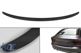 Trunk Boot Lid Spoiler suitable for AUDI A7 4G8 S7 RS7 (2011-2017) KZ Style Real Carbon - TSAUA74GRSC