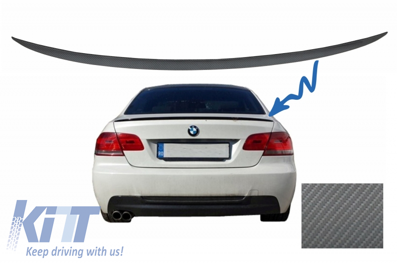 Trunk Boot Lid Spoiler Suitable For Bmw 3 Series E92 E93 2006 2012 Coupe Cabrio M3 Design Carbon Film