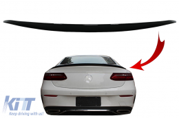 Trunk Boot Spoiler suitable for Mercedes E-Class C238 Coupe (2016-up) Piano Black - TSMBC238PB