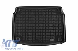 Trunk Mat Black Rubber suitable for Hyundai i30 III (2016 -) i30N III (2019-) Hatchback Black - 230644