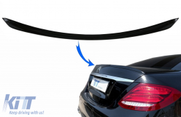 Trunk Spoiler suitable for Mercedes E-Class W213 (2016-up) Piano Black - TSMBW213PB