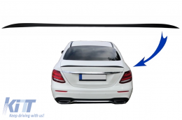 Trunk Spoiler suitable for Meredes E-Class W213 (2016-up) Matte Black - TSMBW213MB