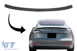 Trunk Spoiler suitable for Tesla Model 3 (2017-up) Real Carbon - 7404CF