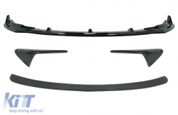 Trunk Spoiler with Turn Signal Covers Side Markers and Add-On Front Spoiler Lip suitable for Tesla Model 3 (2017-up) - COCB7404CFM3