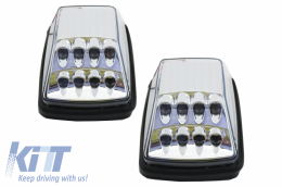 Turning Lights White Clear Lens LED Mercedes Benz G-Class W463 (1989-2015) - TRLMBW463LEDC