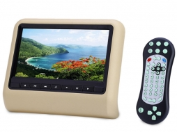 Universal 9 Inch Car Headrest DVD Player HDMI LCD Screen Backsuitable for SEAT Monitor Beige - XD9901C