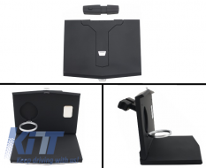 Universal Auto Headrest Desk Laptop Folding Tray Table Worktop Cup Stand Car Back suitable for SEAT - UNIVERSALFT