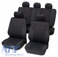 Universal seat cover Eco-Class Malta complete set 15 pieces Gray - 25675918