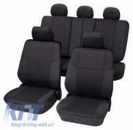 Universal suitable for SEAT cover Eco-Class Malta complete set 15 pieces Gray - 25675918