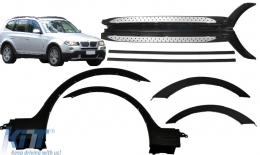 Wheel Arches Fender Flares suitable for BMW X3 E83 LCI (2006-2010) with Running Boards Side Steps - COWABMX3E83LCIRB