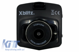 Xblitz Limited Dash Camera Dashboard Recorder Full HD 1920x1080P, 120 Degrees Lens, 2.4 Inch Screen, Black - XBLIMITED
